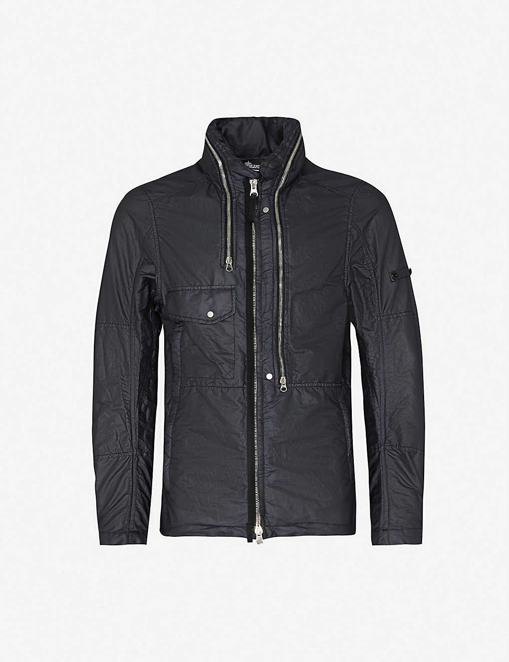 STONE ISLAND SHADOW PROJECT: Funnel-neck shell jacket