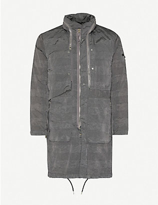 STONE ISLAND SHADOW PROJECT: Funnel-neck zipped relaxed shell jacket