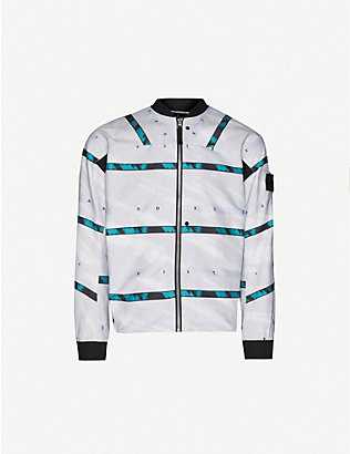 STONE ISLAND SHADOW PROJECT: Striped cotton-blend jacket