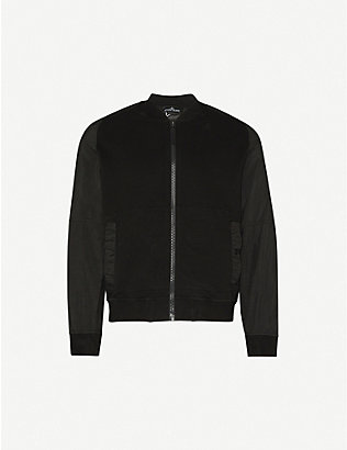 STONE ISLAND SHADOW PROJECT: Slim-fit collared cotton-blend bomber jacket