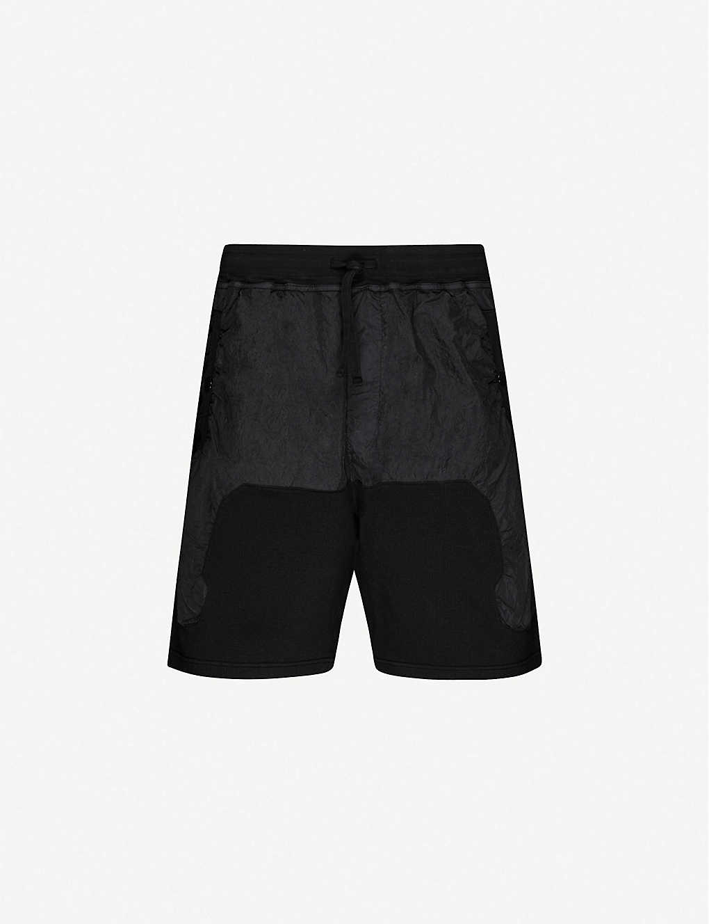 STONE ISLAND SHADOW PROJECT: Logo-print cotton and shell shorts