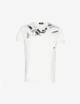 STONE ISLAND SHADOW PROJECT: Graphic-print crewneck cotton-jersey T-shirt