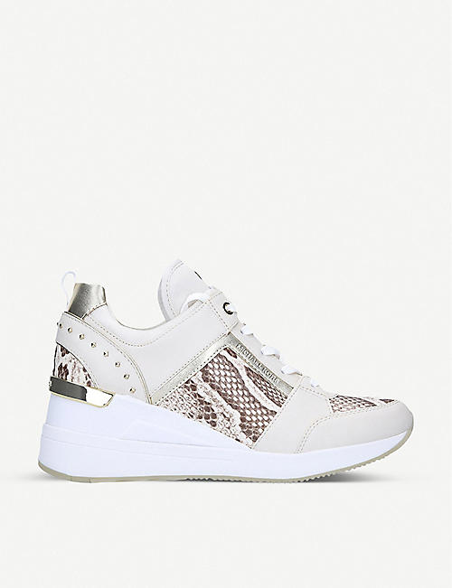 MICHAEL MICHAEL KORS Georgie snakeskin-print leather trainers