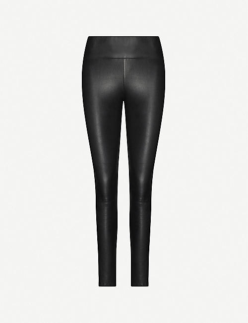 SPRWMN: Skinny high-rise leather leggings