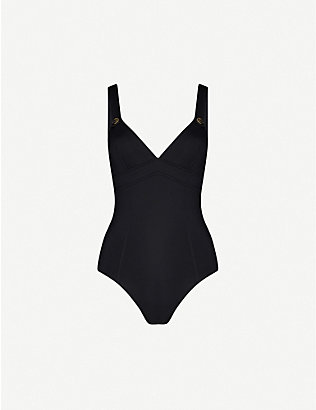 SEAFOLLY: Active button-embellished swimsuit