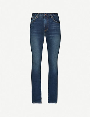 MONFRERE: Brando slim-fit cotton-blend denim jeans