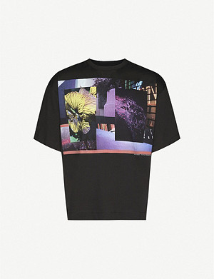 DRIES VAN NOTEN Graphic-print cotton-jersey T-shirt