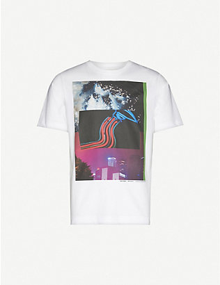 DRIES VAN NOTEN: Graphic-print cotton-jersey T-shirt