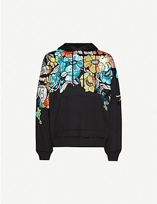 DRIES VAN NOTEN: Sequin-embellished cotton-jersey hoody