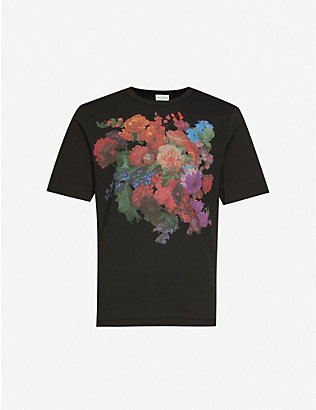 DRIES VAN NOTEN: Floral-print cotton T-shirt