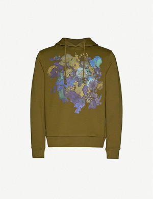 DRIES VAN NOTEN Floral-print cotton-jersey hoody