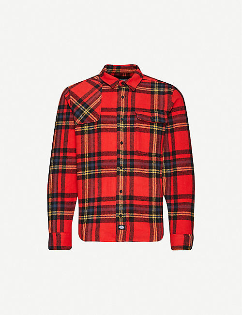 DICKIES Preston checked cotton-flannel overshirt