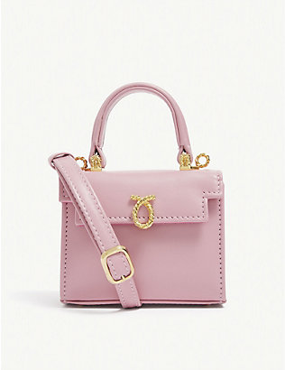 LAUNER: Picollo mini leather top handle bag