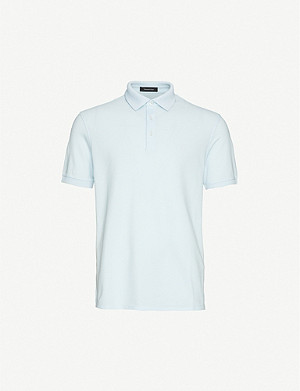 ERMENEGILDO ZEGNA Logo-embroidered cotton-piqué polo shirt