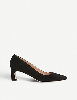 LK BENNETT: Freya pointed-toe suede courts