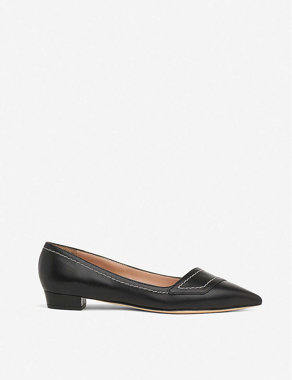 LK BENNETT: Polly pointed leather shoes