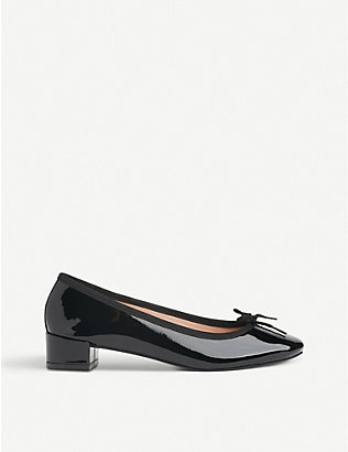 LK BENNETT: Preston patent leather ballerina flats