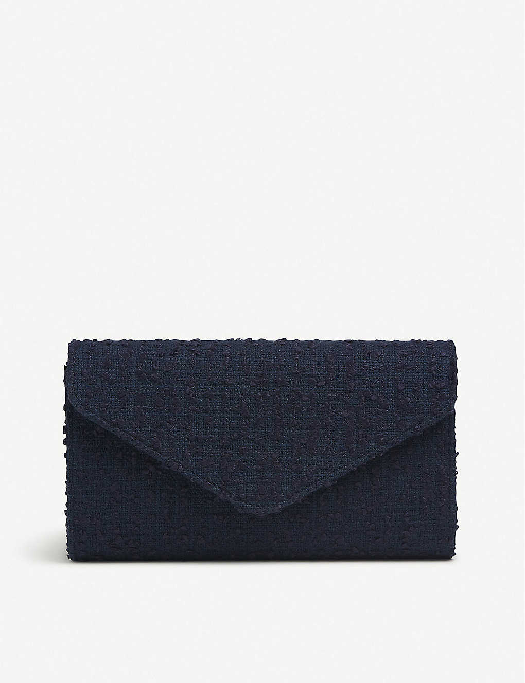 LK BENNETT: Lucia tweed envelope clutch bag