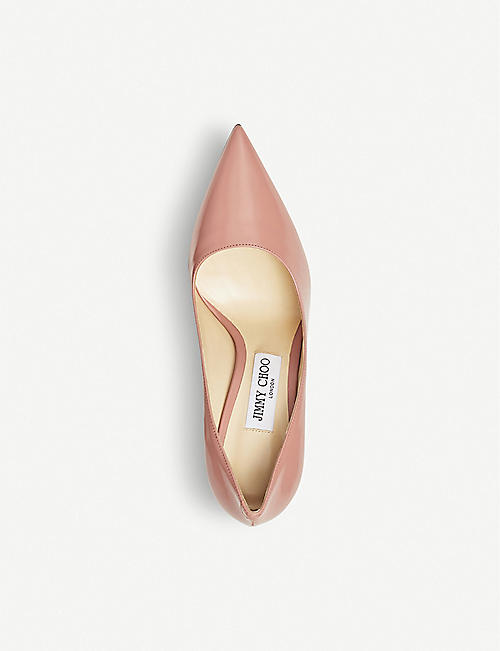 JIMMY CHOO Love 100 liquid-leather courts