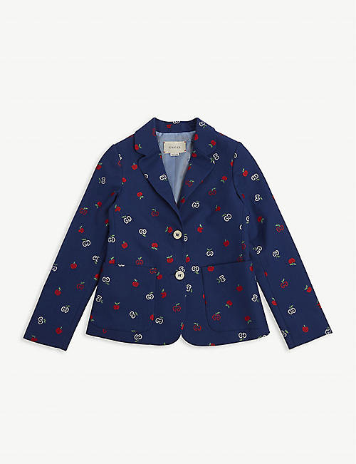 GUCCI Embroidered apple blazer 6-12 years