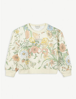 GUCCI: Floral-print cotton sweatshirt 4-10 years