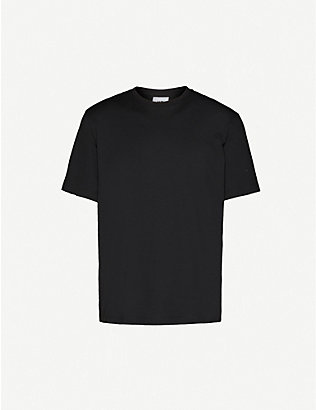 Y3: Back graphic-print cotton-jersey T-shirt