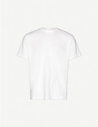 Y3: Logo-print cotton-jersey T-shirt
