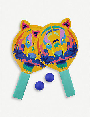 SUNNYLIFE: Tiger plastic and foam beach bats set of 2