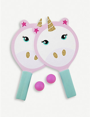 SUNNYLIFE: Unicorn plastic and foam beach bats set of 2