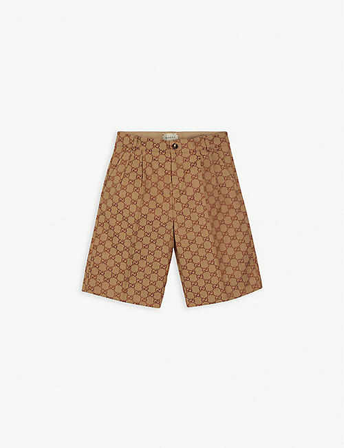 GUCCI: GG motif formal cotton-blend shorts 6-10 years