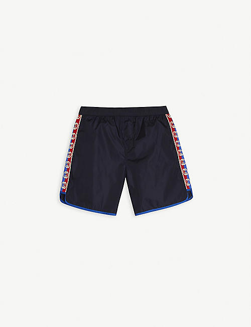 GUCCI: Logo tape shell swim shorts 4-12 years