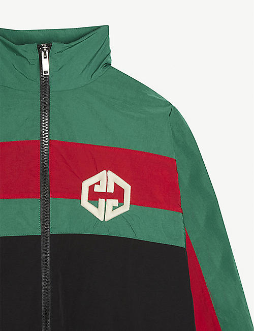 GUCCI Web striped-nylon shell jacket 4-12 years