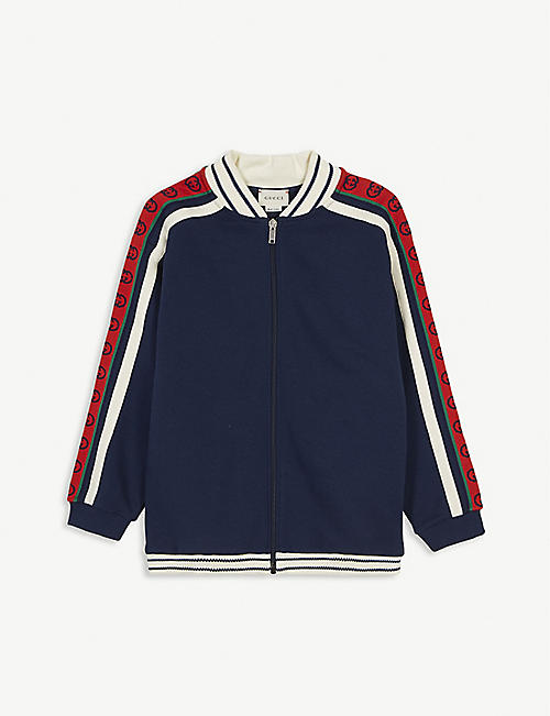 GUCCI: Logo-print cotton sweatshirt 4-12 years