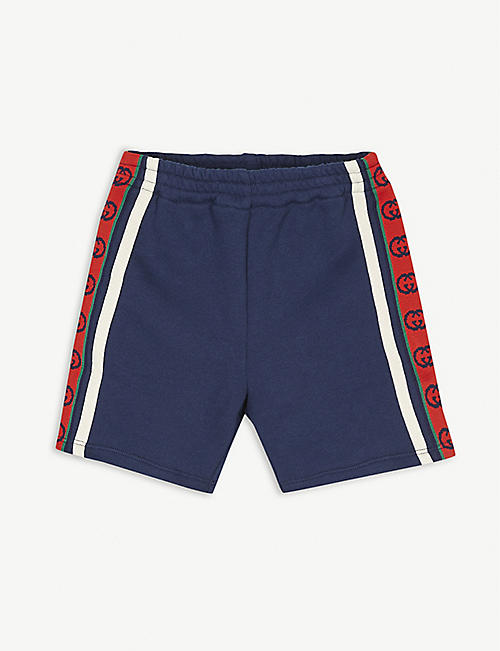 GUCCI: GG striped cotton shorts 6-36 months
