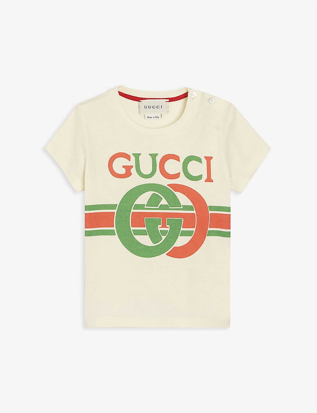 GUCCI: GG logo cotton T-shirt 0-36 months