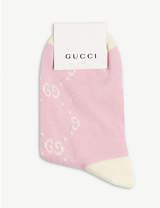 GUCCI: GG monogram cotton-blend socks 6-12 years