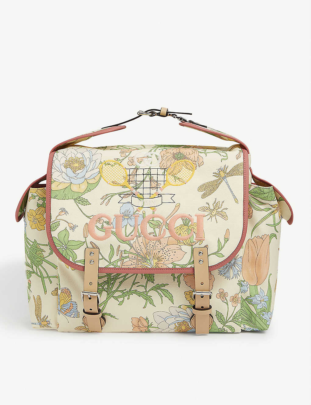GUCCI: Floral canvas backpack