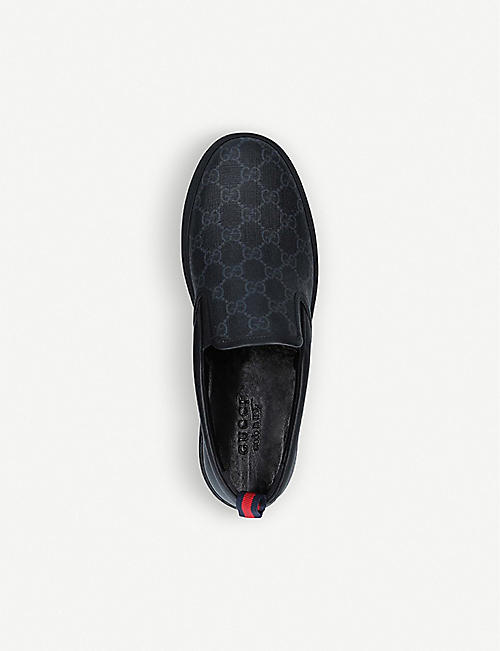GUCCI Dublin GG-embossed leather skate shoes