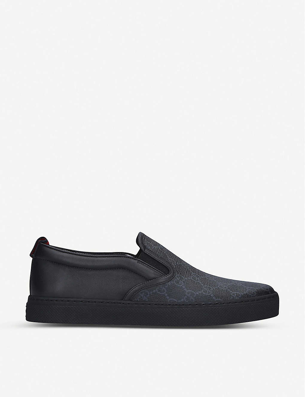 GUCCI: Dublin GG-embossed leather skate shoes