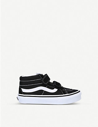 VANS: Sk8-Mid suede and canvas high-top trainers 6 months – 5 years