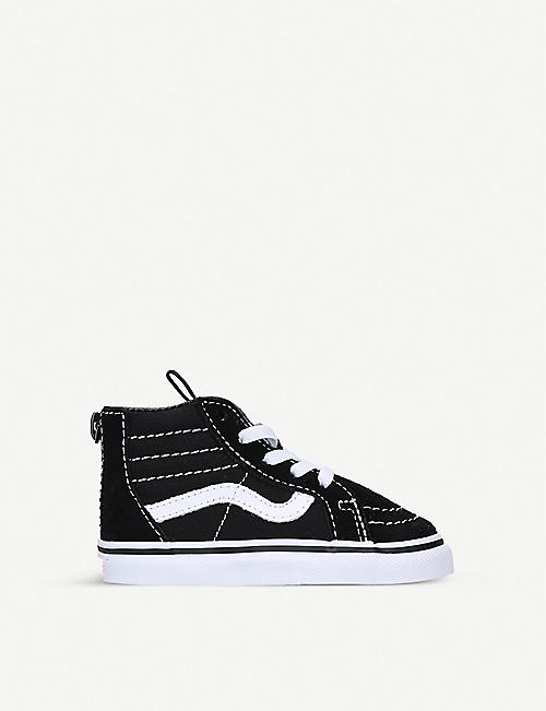 VANS: Sk8-Hi suede and canvas high-top trainers 1-4 years