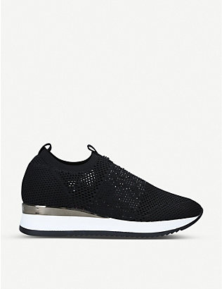 CARVELA: Janeiro embellished knitted trainers