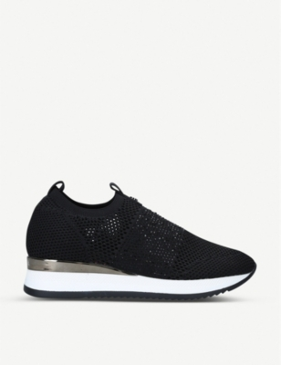 CARVELA Janeiro embellished knitted trainers