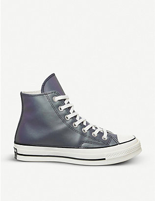 CONVERSE: All Star Hi 70 iridescent leather trainers