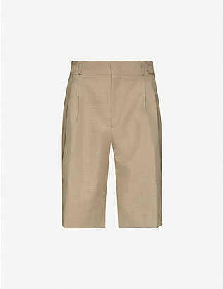 FENDI: Houndstooth slim-fit woven shorts