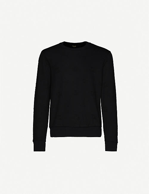 FENDI Branded embroidery stretch-jersey sweatshirt
