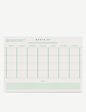 REDFRIES Monthly planner pad A4