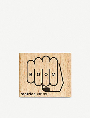 REDFRIES Boom rubber stamp