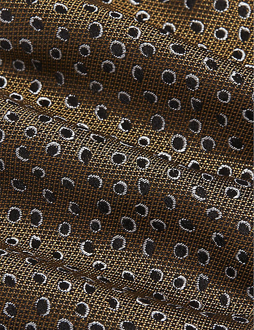 TIGER OF SWEDEN Marton print silk tie