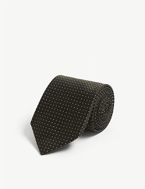 TIGER OF SWEDEN Aureo dot micro pattern silk tie
